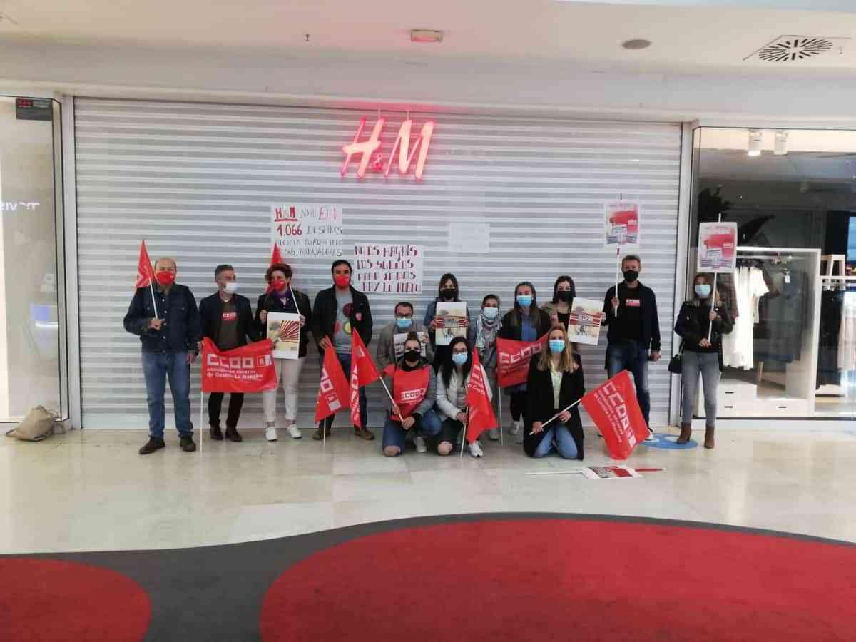 Trabajadoras de H&M en Cuenca en paro total contra los cierres, despidos y precarización del empleo