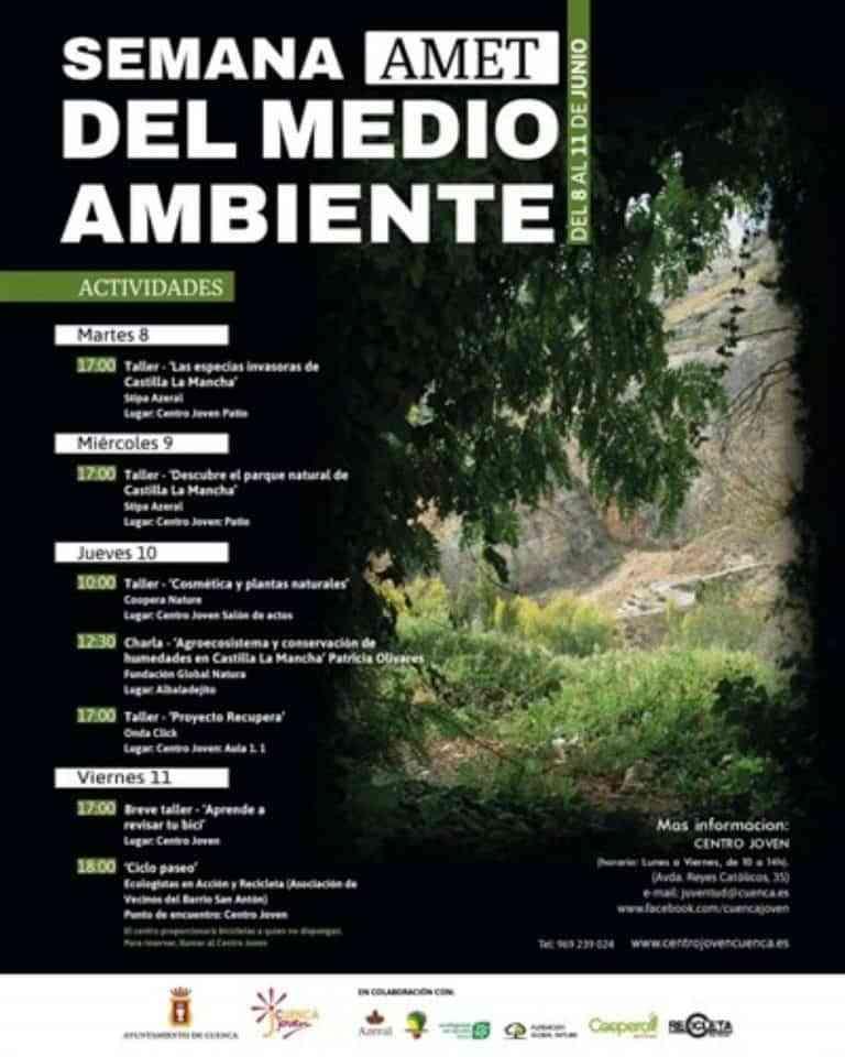 El Centro Joven de Cuenca celebrará la 'AMET Semana del medio ambiente' del 8 al 11 de junio