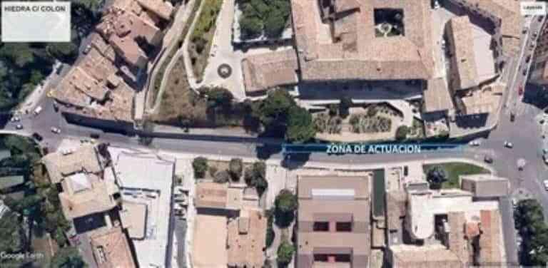 Mañana retirarán restos de hiedra de los muros del Hospital de Santiago y afectará el tráfico vehicular y peatonal