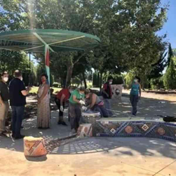 En marcha los trabajos de recuperación de la Plaza Taiyo de Cuenca proyectada por la artista Keiko Mataki