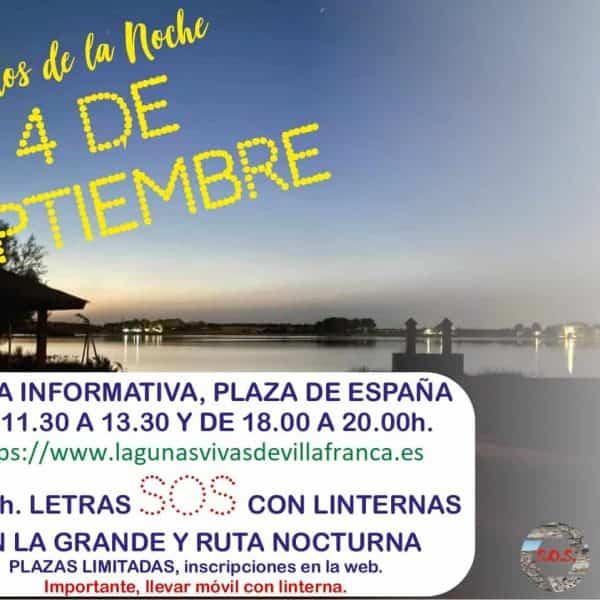 Recogida de firmas en papel y un SOS de luz, actos de protesta de Lagunas Vivas en septiembre