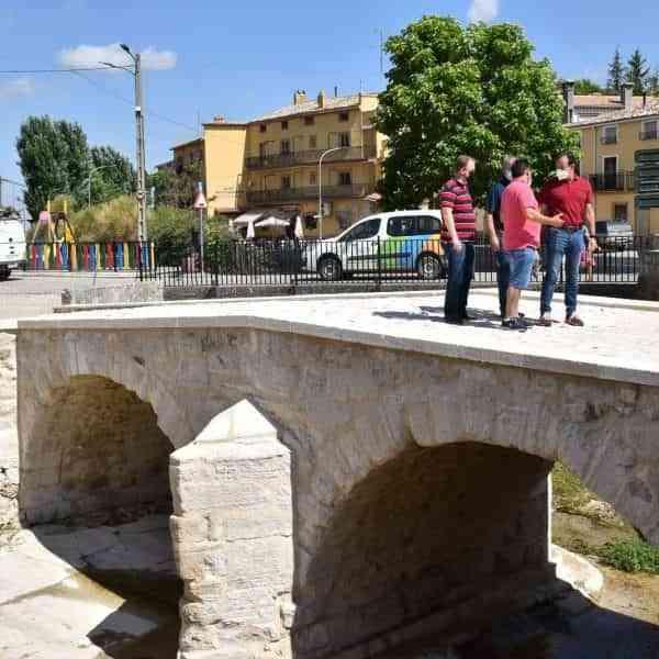 Recepcionadas las obras del puente histórico de Fuentes con una inversión de 30.000 euros de la Diputación de Cuenca