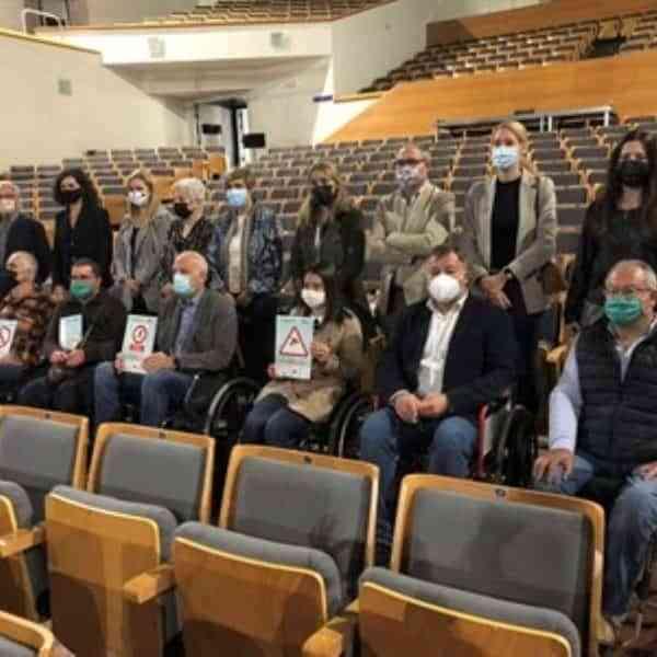 Aspaym visitaron el Auditorio José Luis Perales de Cuenca donde se han realizado mejoras de accesibilidad